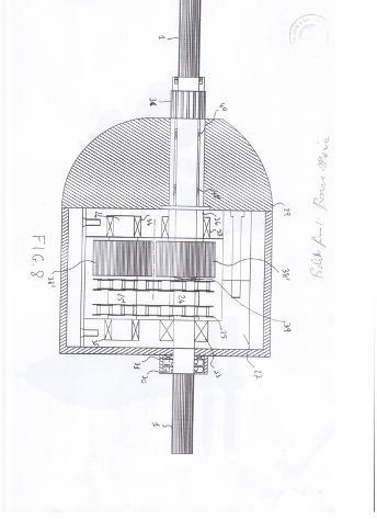 brevetto per linea d'asse controrotante Nuovo Euro 100 - Foto 8
