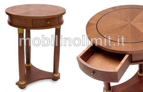 Tavolino tondo con anelli gambe in ottone - Nuovo