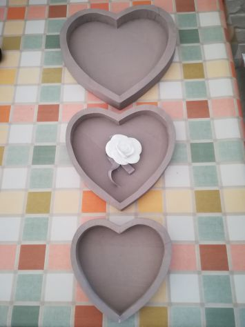 3 Vassoi decorativi a forma di cuore - Foto 2