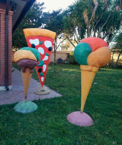 Gelato in fiberglass:  Insegna cono gelato per esterno. Disponibile a COMO - Foto 9
