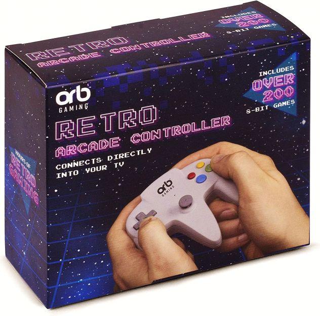 Orb gioco tv Gaming controller Retro Arcade 200 Giochi 8 Bit famicom nes clone