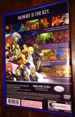 kingdom hearts re: chain of memories ps2 playstation 2 custodia e cover art USA - Foto 3