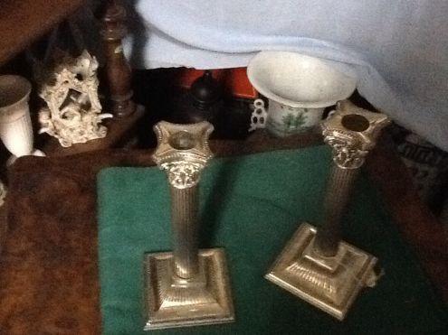 candelabri in silver plate