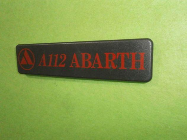 Scritta logo targhetta baule posteriore Autobianchi a112 abarth 6° serie (nuova)