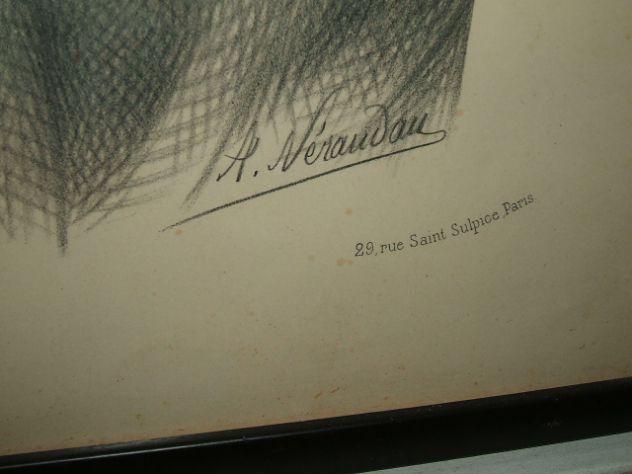 Antica litografia a soggetto sacro - Foto 3