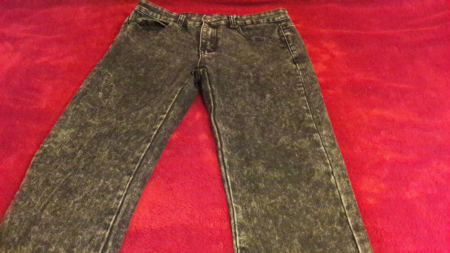 Jeans effetto neve grigio Scuro Tg 46 - NUOVI