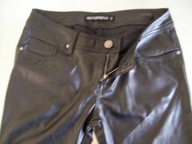 Pantaloni donna tipo pelle Terranova mis S Nuovi