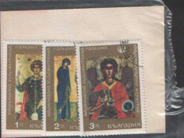 Tre francobolli Bulgaria