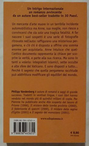 Il mistero della pergamena di Philipp Vandenberg; 2°Edizione: Piemme 2003 nuovo - Foto 2