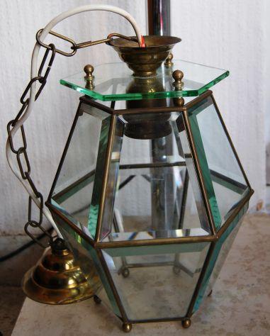 Lampadario a lanterna anni 50' vintage