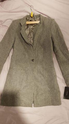 Cappotto Zara grigio, tg. XS, 100% lana, NUOVO CON ETICHETTA!