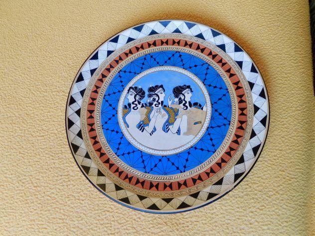 Piatti anni '60 in terracotta dipinta a punta di pennello - Foto 3