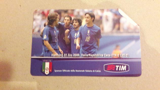 Scheda telefonica Italia mondiali 2006