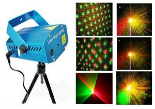 Mini Proiettore Effetto Luci Laser Per Disco Discoteca Dj.Mini Laser Proiettore Di Effetti Luce E Strobo Per Dj