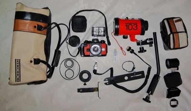 Nikonos V Flash SB103 e accessori x fotografia subacquea
