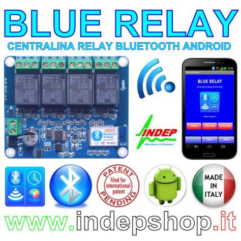 Scheda Rele Bluetooth a 4 canali - BlueRelay
