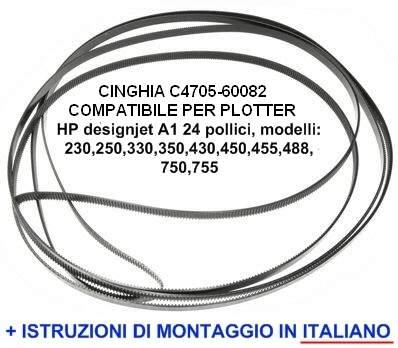 Cinghia per plotter HP designjet modelli 230,250,350,330,430,450,455,488,70 …