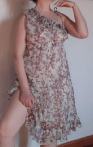 Vestito floreale casual donna woman dress abito chiffon estivo floral Bohemien
