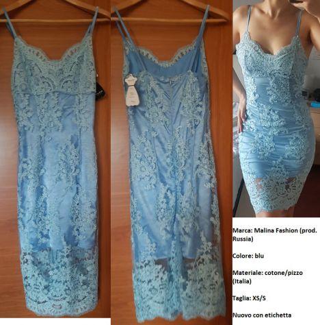 Vestito Malina Fashion, colore blu, taglia XS/S, NUOVO CON ETICHETTA!