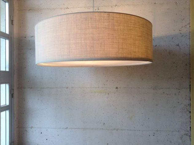 LAMPADARIO IN TESSUTO CILINDRO  IN TUTTE LE MISURE GRANDI - MAXI - Foto 6