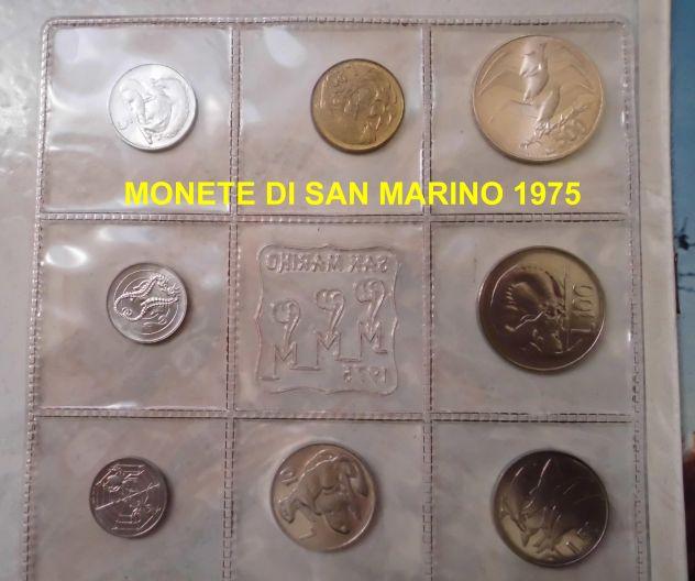 Moneta della repubblica di san marino serie 1975 lira