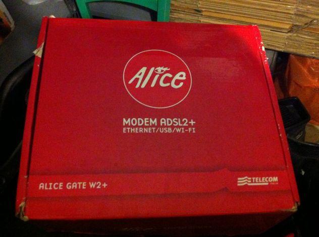 Modem Router adsl2+ Wi Fi Ethernet Alice Gate W2+