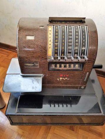 REGISTRATORE DI CASSA RIV Torino anni 30/40, Vintage - Foto 3