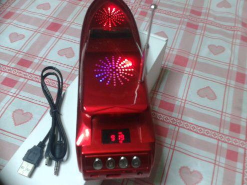 LETTORE PLAYER MP3 CON RADIO A FORMA DI MOTOSCAFO - Foto 3