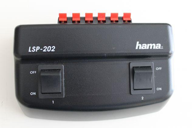 COMMUTATORE PER ALTOPARLANTI 2 PORTE HAMA LSP 202