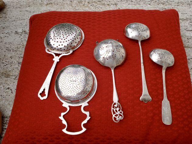 COLINI DA THE ANTICHI in argento massiccio. Intera Collezione - Foto 2