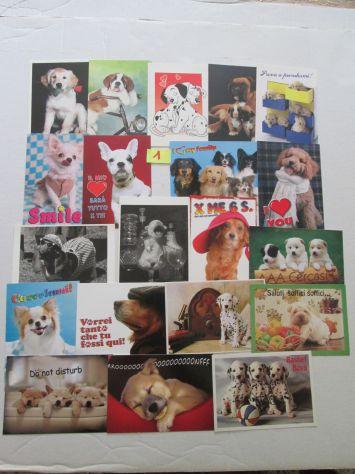 Set 20 cartoline da collezione di cagnolini