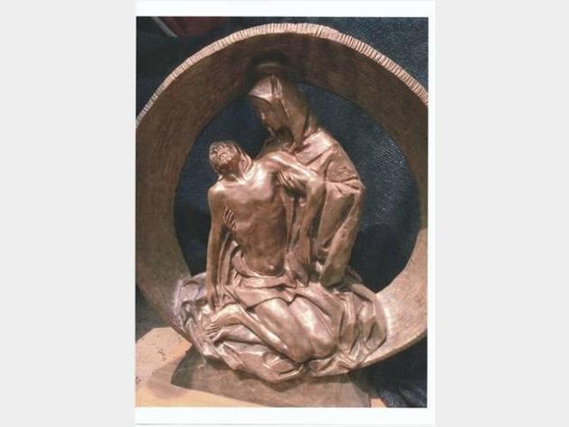 Statua di bronzo - la pieta - cm 92 x 98