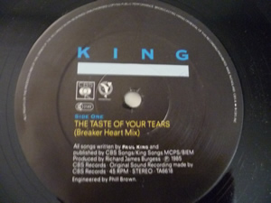 "King - The taste of your tears - 12"" - Foto 3"