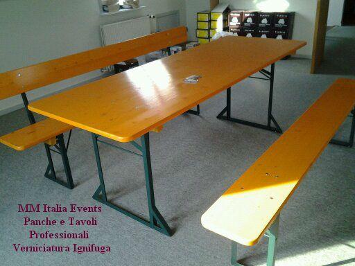 Tavoli Panche Pieghevoli Prezzi.10 Set Birreria Panche E Tavoli Pieghevoili 220 X 80 Ignifughi