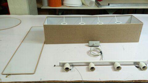 lampadario rettangolare in tessuto tutte le misure - Foto 4