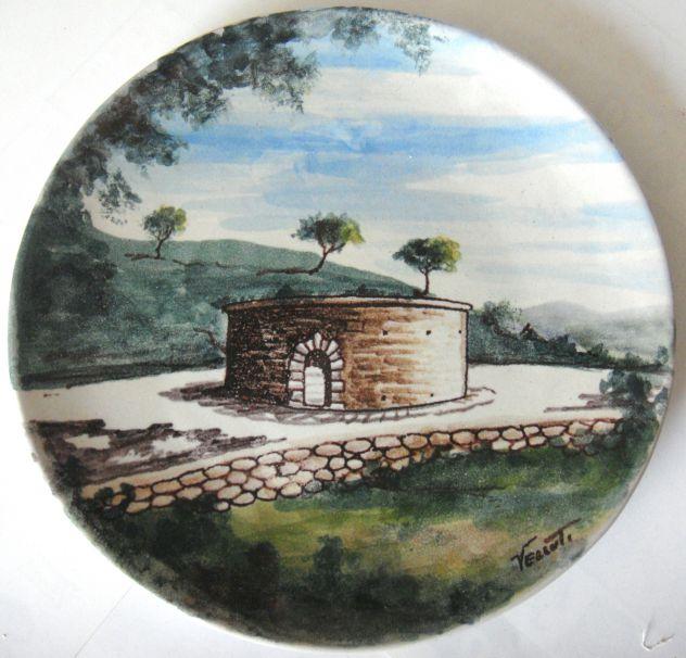 Orvieto-Piatto parete-ceramica dipinta a mano da Velluti-Lab. Ceramiche SCO-1960