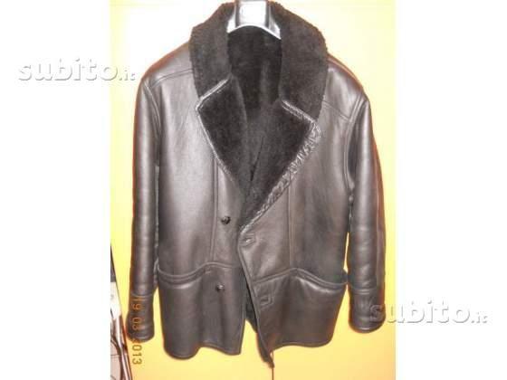 Cappotto nero shearling