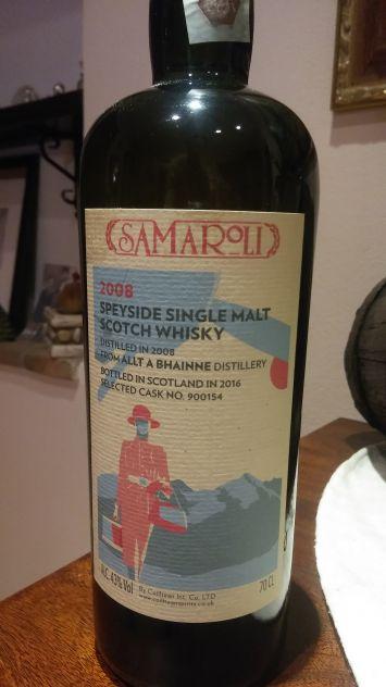 Selez.Samaroli 2008 Speyside Whisky Single Malt
