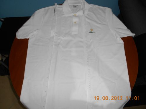 Polo ROLEX Golf Shirt White Mens Size XL VIP NEW RARE - Polo Rolex Bianca XL