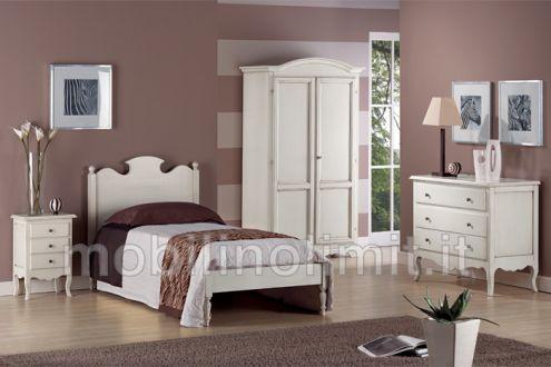 Camera da letto grezza con letto una piazza - Nuovo