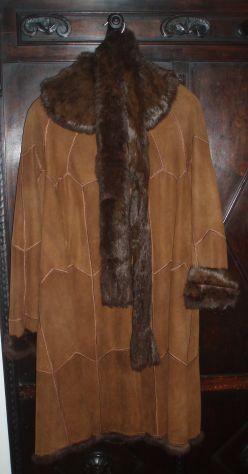 Cappotto montone con pelliccia di lapin con sciarpa stola abbinata