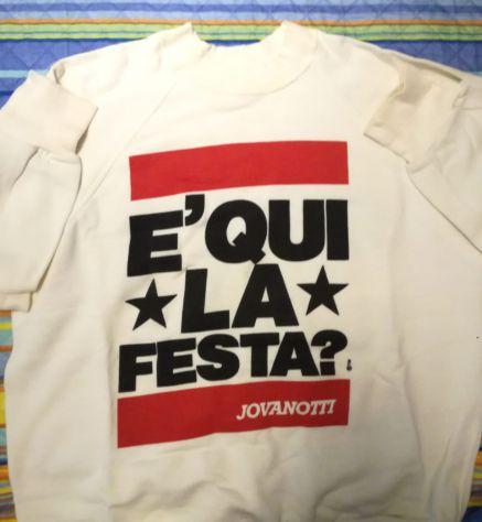 Felpa originale anni '80 - Jovanotti - E' qui la festa?