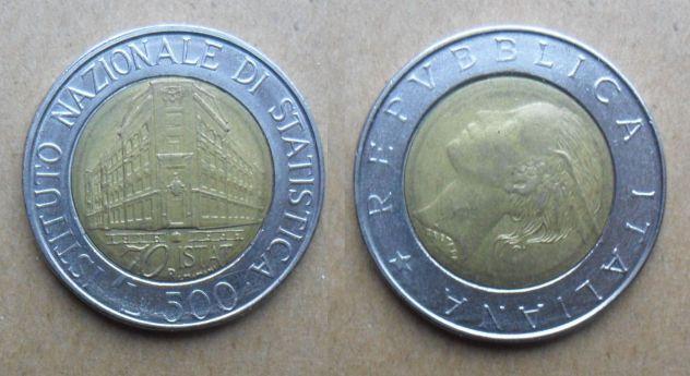 500 LIRE DEL 1996 DELLA REPUBBLICA ITALIANA CON DIFETTO DI CONIO -