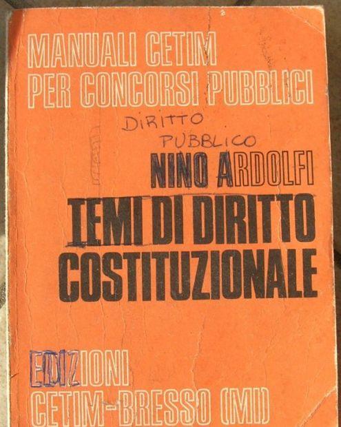 TEMI DI DIRITTO COSTITUZIONALE Nino Ardolfi