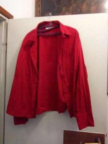 Camicia a maniche lunghe rossa in cotone 54