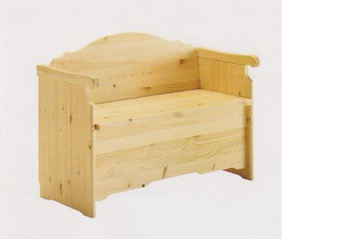 MOBILI RUSTICI Cassapanca con braccioli in pino (nuova) VERO AFFARE