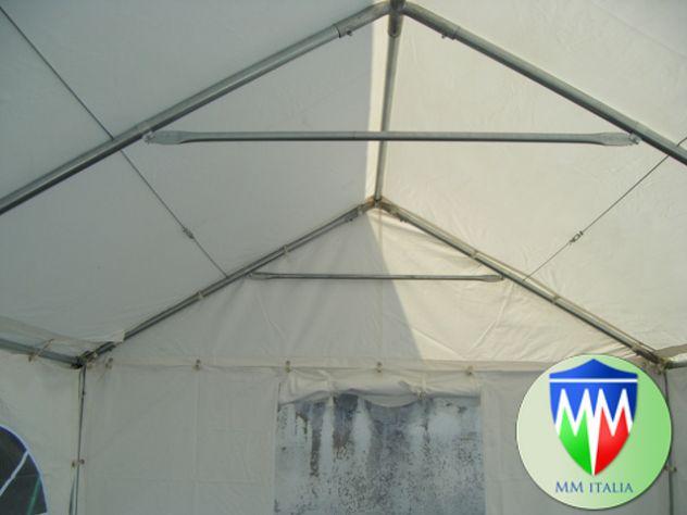 Tendone Gazebo 3 x 4 Professionale pvc Alta densita Ignifugo Gold MM - Foto 9