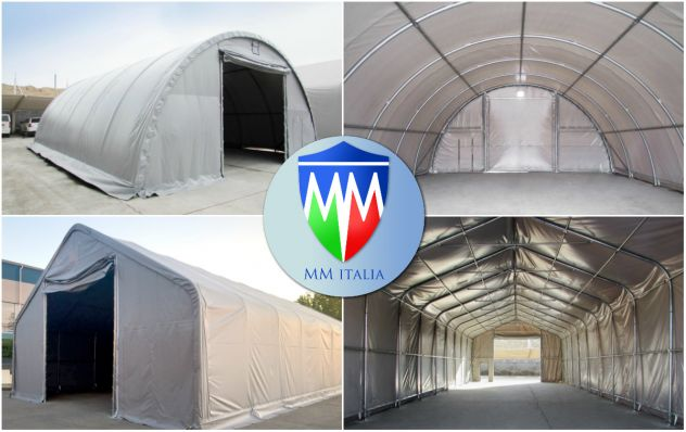 Tunnel Tendoni Professionli 8 x 18 x 4,40 Pvc Ignifugo MM Italia - Foto 8