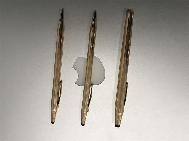 Penna e matita Cross placcate oro 14 kt
