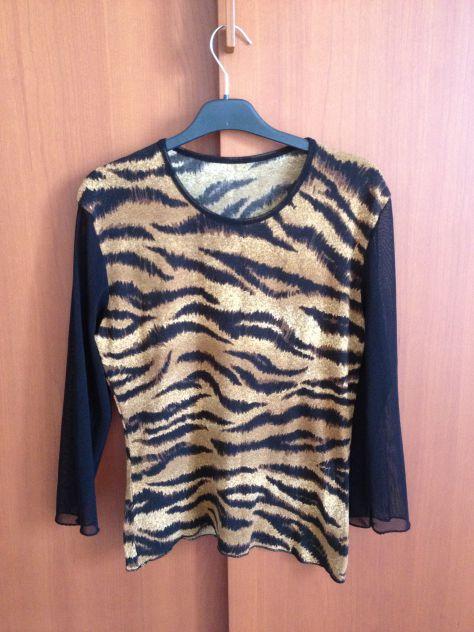 Maglietta leopardata donna